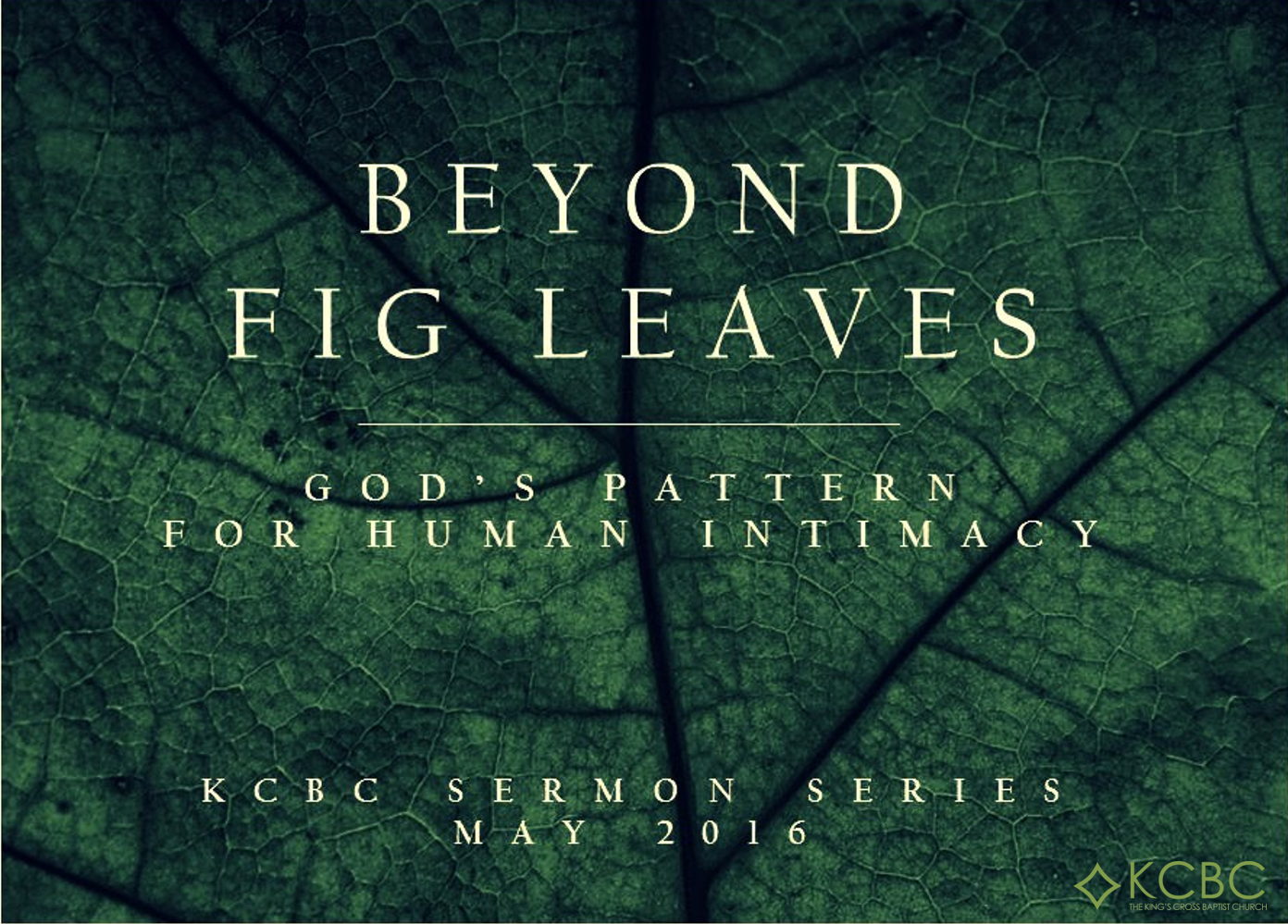 God's Perspective On Same-Sex Relationships | BEYOND FIG LEAVES