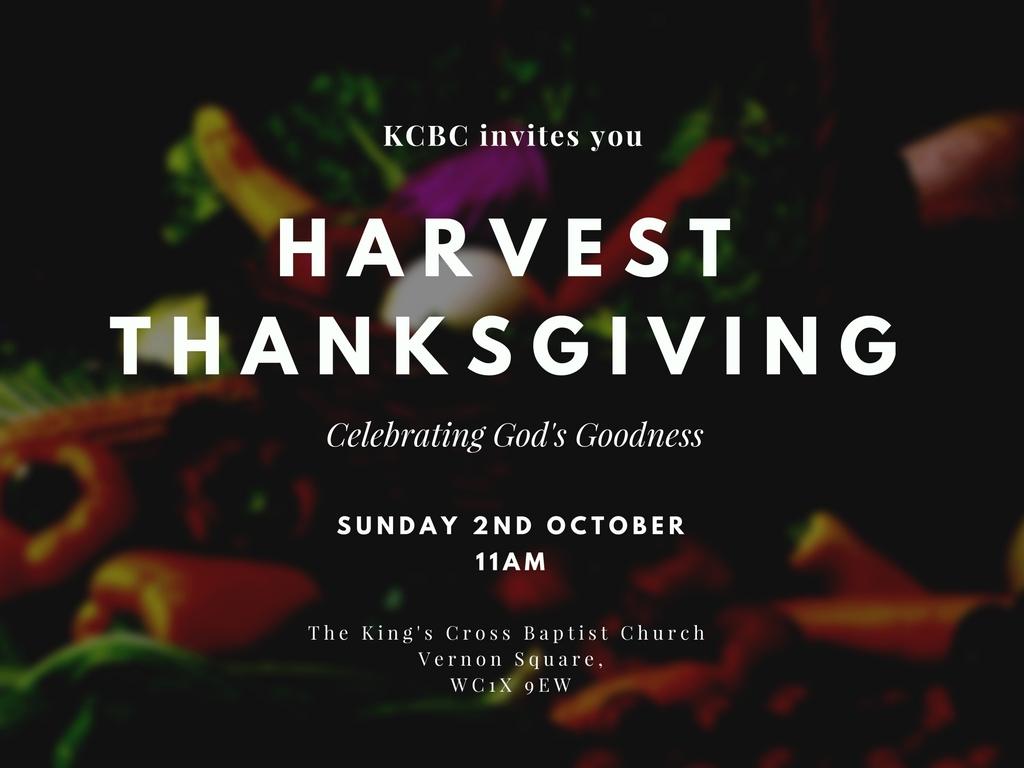 Harvest Thanksgiving: Celebrating God's Goodness